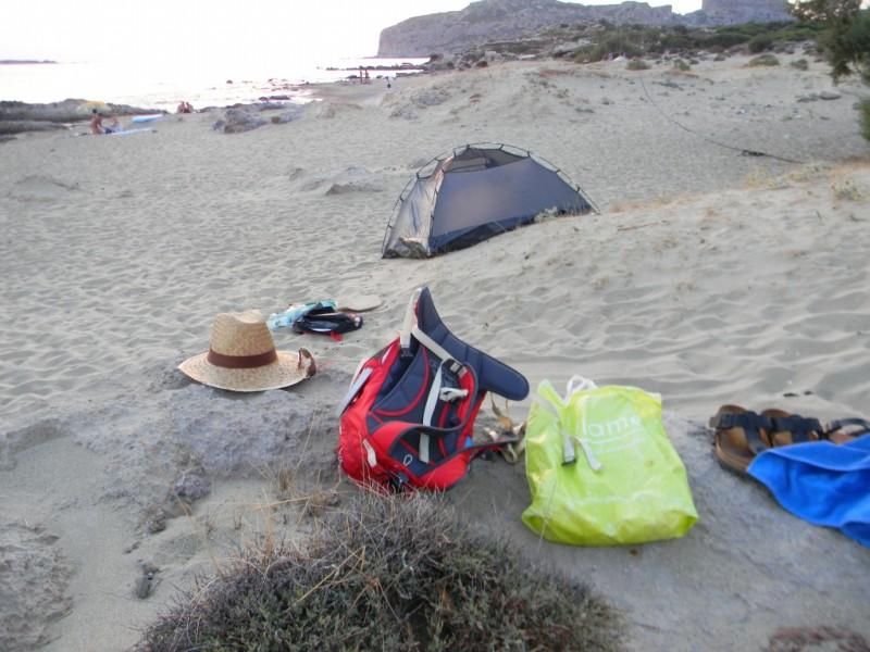 Campement en préparation