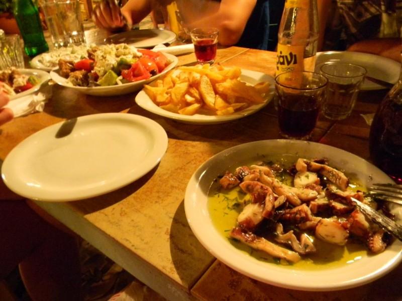 Repas de dieux - Restaurant Sun set à Falassarna