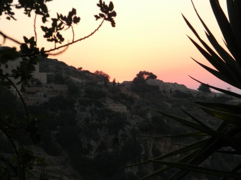 Coucher de soleil depuis la chapelle - Amen!