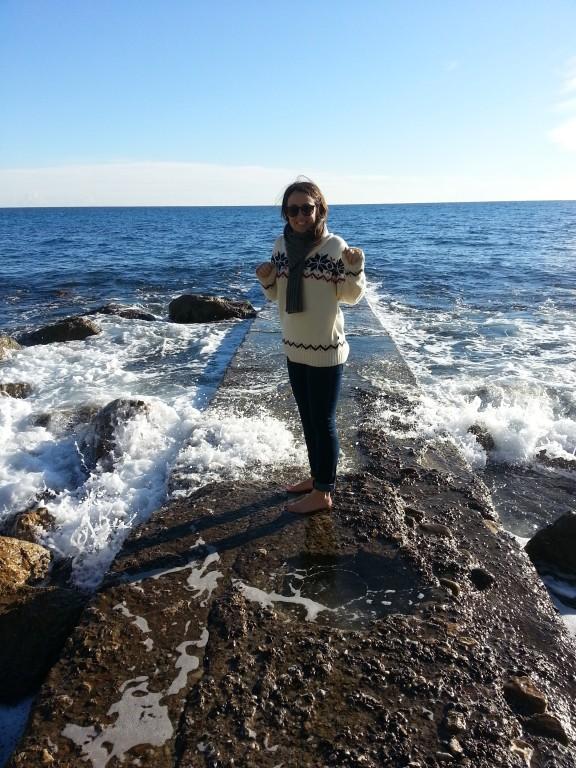 Décembre, les pieds dans l'eau. Fait frette.