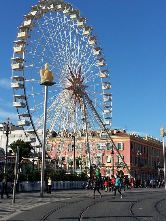 Vers le centre-ville de Nice